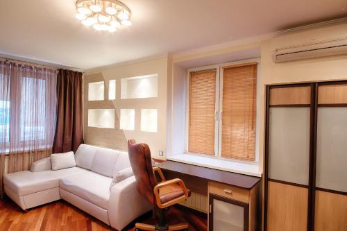 Гостиная зона в Студио Апартаменты на Волгоградском проспекте