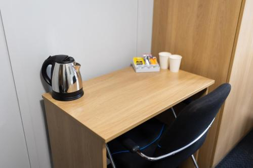 A kitchen or kitchenette at Nightel Hotel, Humberside Airport