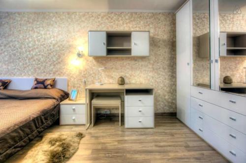 Телевизор и/или развлекательный центр в Flat Inn Moscow Profsoyuznaya metro Quiet & Cozy Apartments