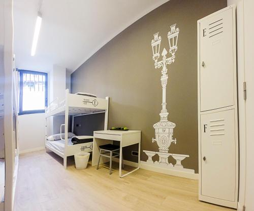 A television and/or entertainment center at Room018BCN