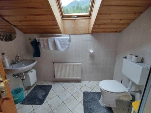 Koupelna v ubytování Ferienwohnung Stricker
