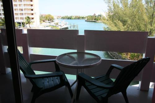 A balcony or terrace at Bell Channel Inn Hotel & Scuba Diving Retreat