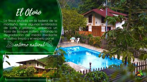 A view of the pool at Finca TRADICIONAL EL OTOÑO or nearby