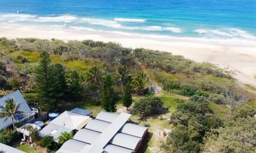 A bird's-eye view of The Beachcamp Eco Retreat
