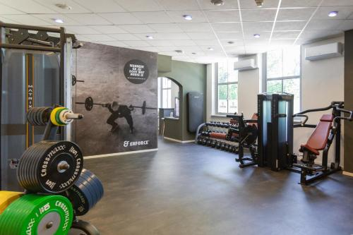 Het fitnesscentrum en/of fitnessfaciliteiten van Hotel De Reiskoffer