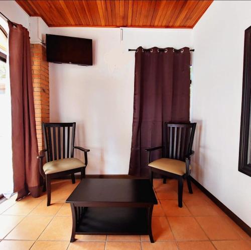 A seating area at Uruka Lodge