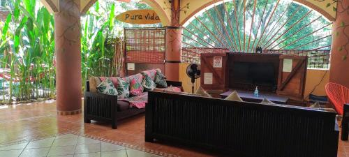 The lobby or reception area at Cool Vibes Beach Hostel