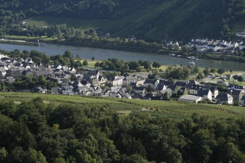Een luchtfoto van Mosel Weinhotel Steffensberg