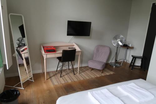 Een TV en/of entertainmentcenter bij King Kong Hostel