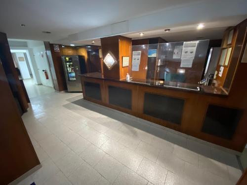 El vestíbulo o zona de recepción de Pensión Eurosol
