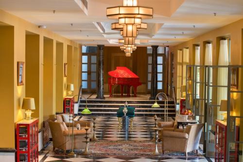 The lobby or reception area at The Laxmi Niwas Palace