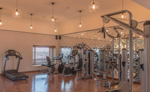 The fitness centre and/or fitness facilities at The Laxmi Niwas Palace
