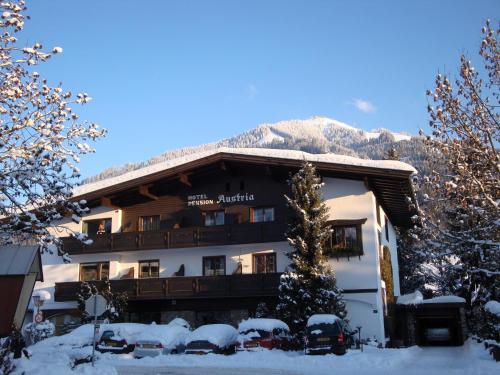Hotel-Garni Austria during the winter