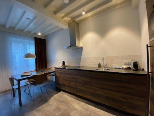 Een keuken of kitchenette bij Slot Oostende