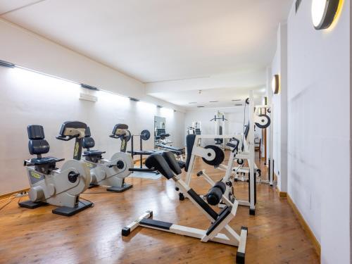 Das Fitnesscenter und/oder die Fitnesseinrichtungen in der Unterkunft Parc Hotel Gritti