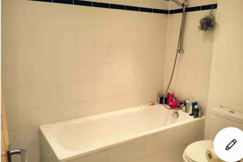 A bathroom at Quiet Private Entrance with Spacious One Bedroom