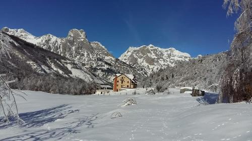 Hotel Margjeka during the winter