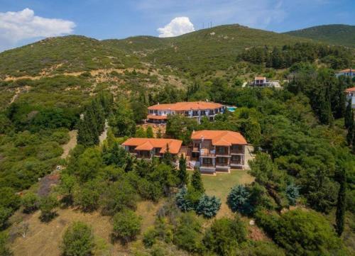 A bird's-eye view of Roxani Country House Resort