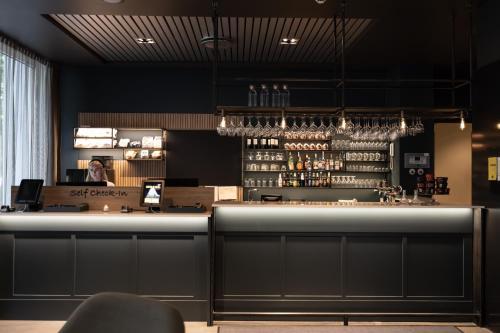 The lounge or bar area at Comfort Hotel Børsparken