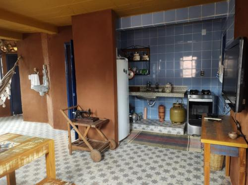 A kitchen or kitchenette at Florescer - Lavras Novas