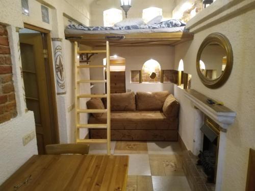 Гостиная зона в Admiral-apartment
