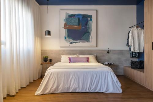 Cama ou camas em um quarto em Swan Generation Soft Opening