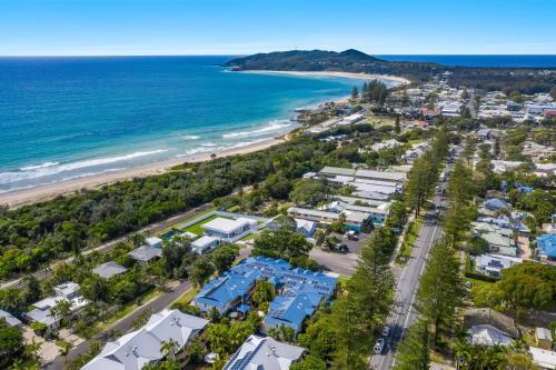 A bird's-eye view of Eco Beach Resort