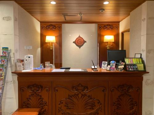 The lobby or reception area at Goethe Hotel Omori