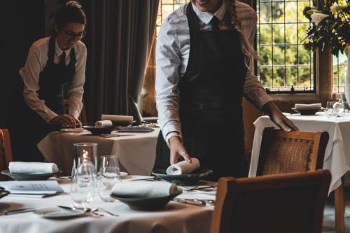 A restaurant or other place to eat at Fischers Baslow Hall - Chatsworth