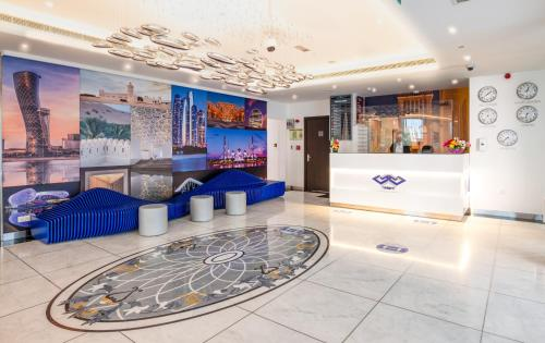 The lobby or reception area at Gravity Hotel Abu Dhabi