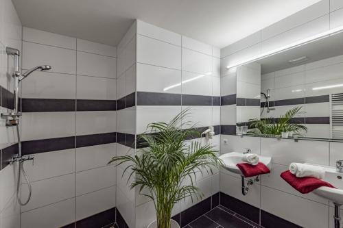 Ein Badezimmer in der Unterkunft Nassfeldhaus
