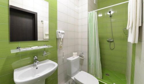 A bathroom at Afrodita Hotel