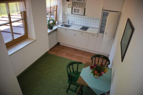 Küche/Küchenzeile in der Unterkunft Alpenhotel Bergzauber