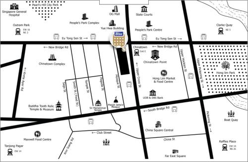 The floor plan of Bliss Hotel Singapore (SG Clean, Staycation Approved)