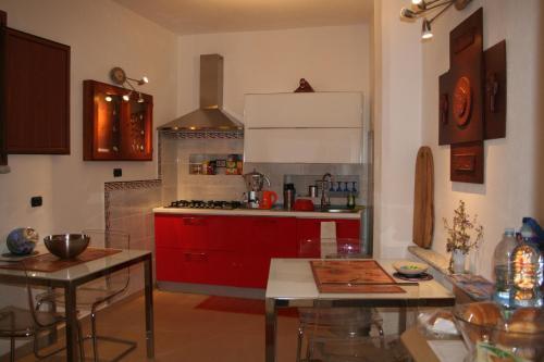A kitchen or kitchenette at Orgosolo B&B Sardegna