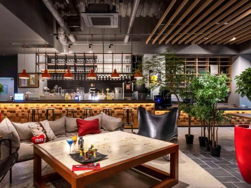 The lounge or bar area at ibis Osaka Umeda