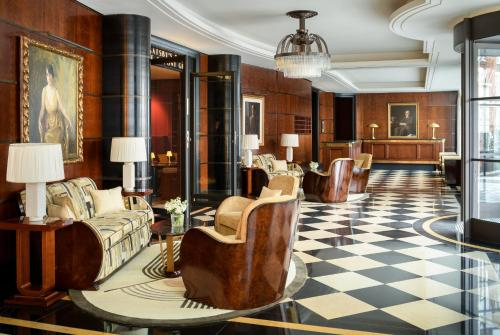 The lobby or reception area at The Beaumont Hotel