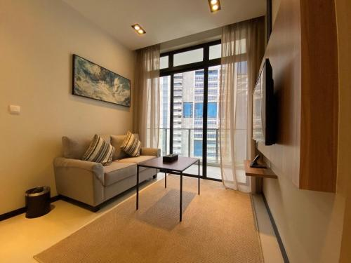 A seating area at Ariva on Shan Serviced Residences (SG Clean)