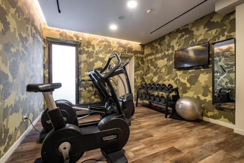 Fitnesscenter och/eller fitnessfaciliteter på Hotel Sant Jaume