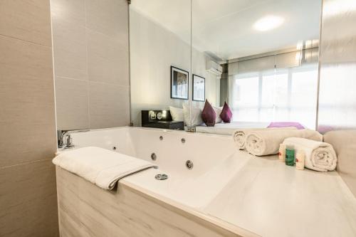 A bathroom at Hotel Andesmar