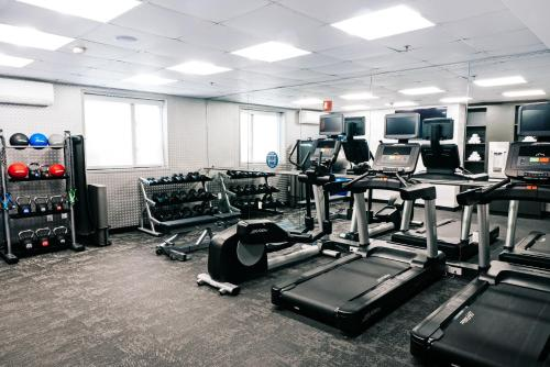 The fitness center and/or fitness facilities at Fairfield Inn by Marriott JFK Airport