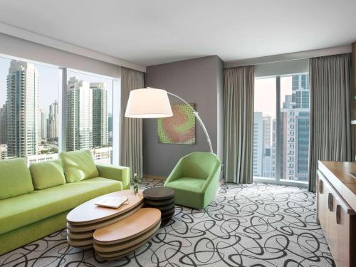 A seating area at Sofitel Dubai Downtown