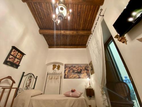 A seating area at La Casa degli Angeli