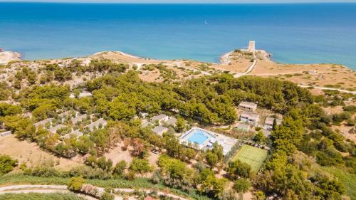 A bird's-eye view of Villaggio Baia della Tufara