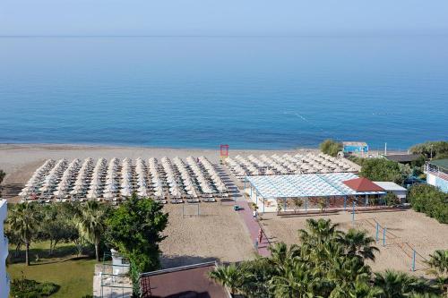 A bird's-eye view of Royal Garden Beach Hotel