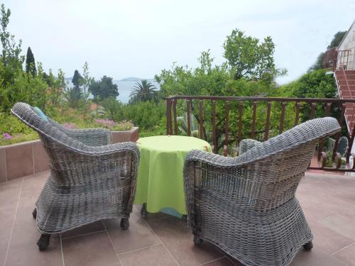 A balcony or terrace at Apartments Petrali