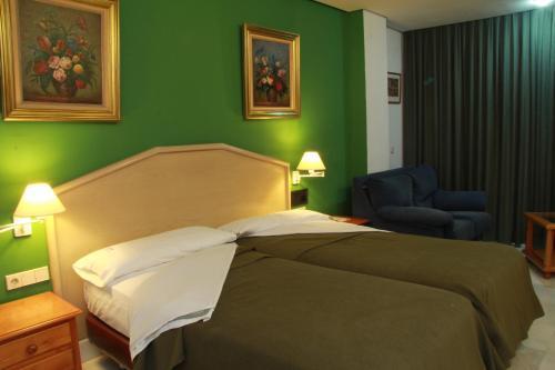 Cama o camas de una habitación en Del Mar Hotel & Spa