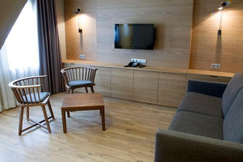 Coin salon dans l'établissement Apartaments Vall de Núria