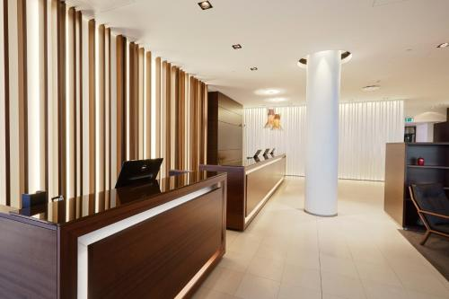 The lobby or reception area at Hilton Reykjavik Nordica