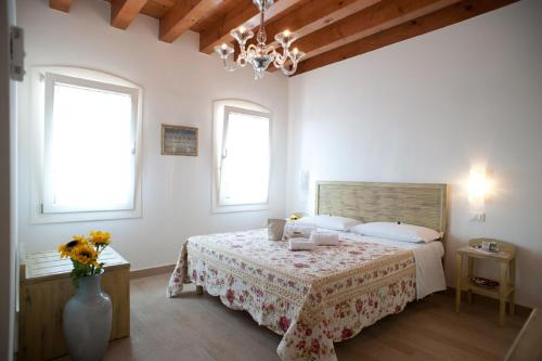 Letto o letti in una camera di Villa Myosotis